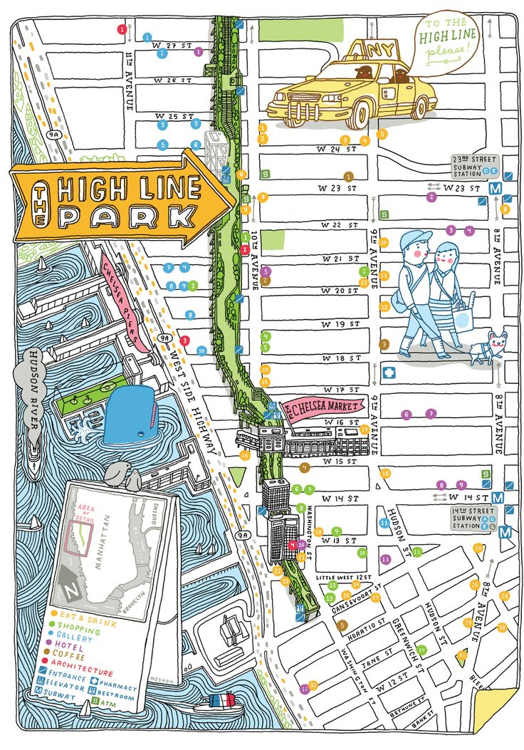 102 Best Ny Trip Images On Pinterest Architecture Traveling And: High Line Nyc Map Pdf At Usa Maps