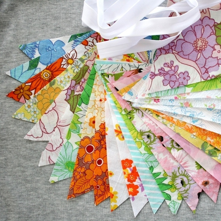 little shop of... — Make your own 'Vintage Bunting' Kit