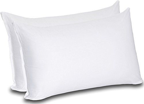 Cotton Zippered Pillow Cases (King, White) - 20 by - http://freebiefresh.com/cotton-zippered-pillow-cases-king-white-review/