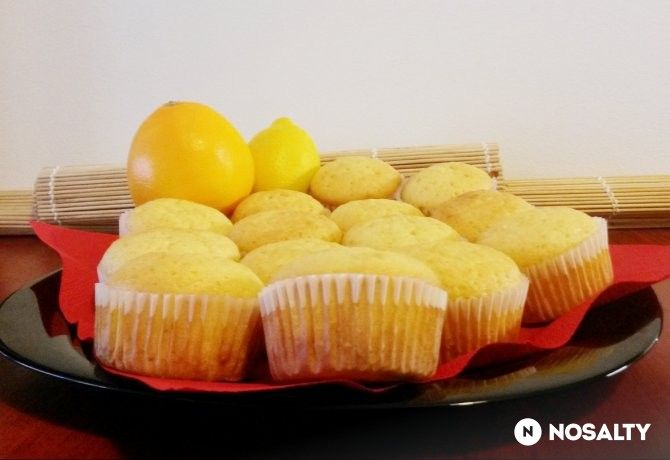 Citrusos bögrés muffin