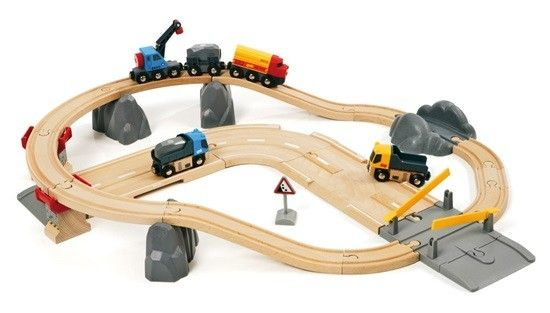 Brio - Train Railway Rail & Road Loading Set 33210