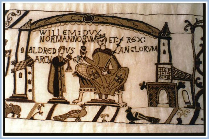 Coronation of william the conqueror as king of england on 25 december 1066 the ceremony was - Point p bayeux ...