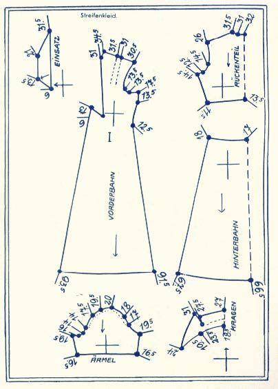 Lutterloh 1938 Book Of Cards - Models Diagram Card 7