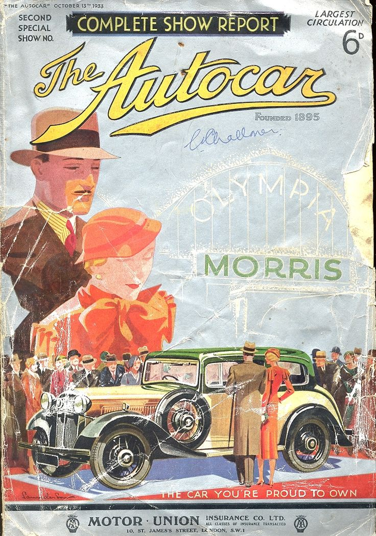 autocar magazine cover october 13th 1933 morris the car you 39 re proud to own automobiles. Black Bedroom Furniture Sets. Home Design Ideas