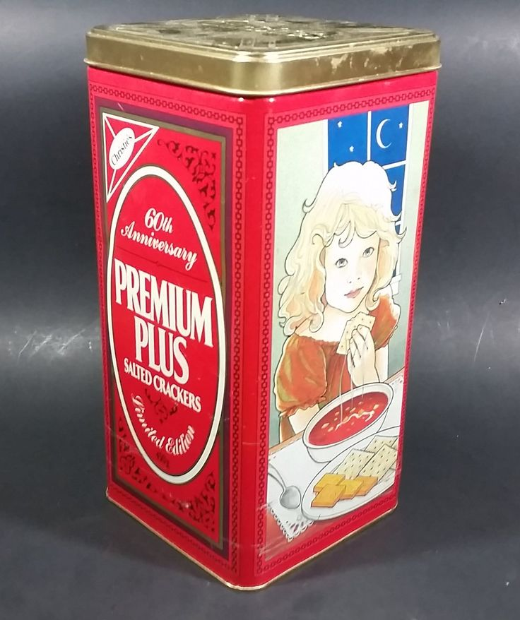 1995 Christie's 60th Anniversary Premium Plus Crackers Tin  - Nabisco Brands https://treasurevalleyantiques.com/products/1995-christies-60th-anniversary-premium-plus-crackers-tin #1990s #90s #Nineties #Nabisco #Brands #Christies #Anniversary #Premium #Plus #Crackers #Bilingual #Toronto #Montreal #Canada #Collectibles #Food #Tins #Soup #Snacks #Tradition