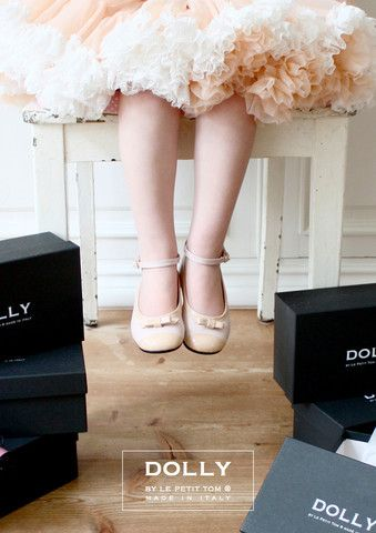DOLLY by Le Petit Tom ® BALLERINA'S 20GB Pink Beige straight bow