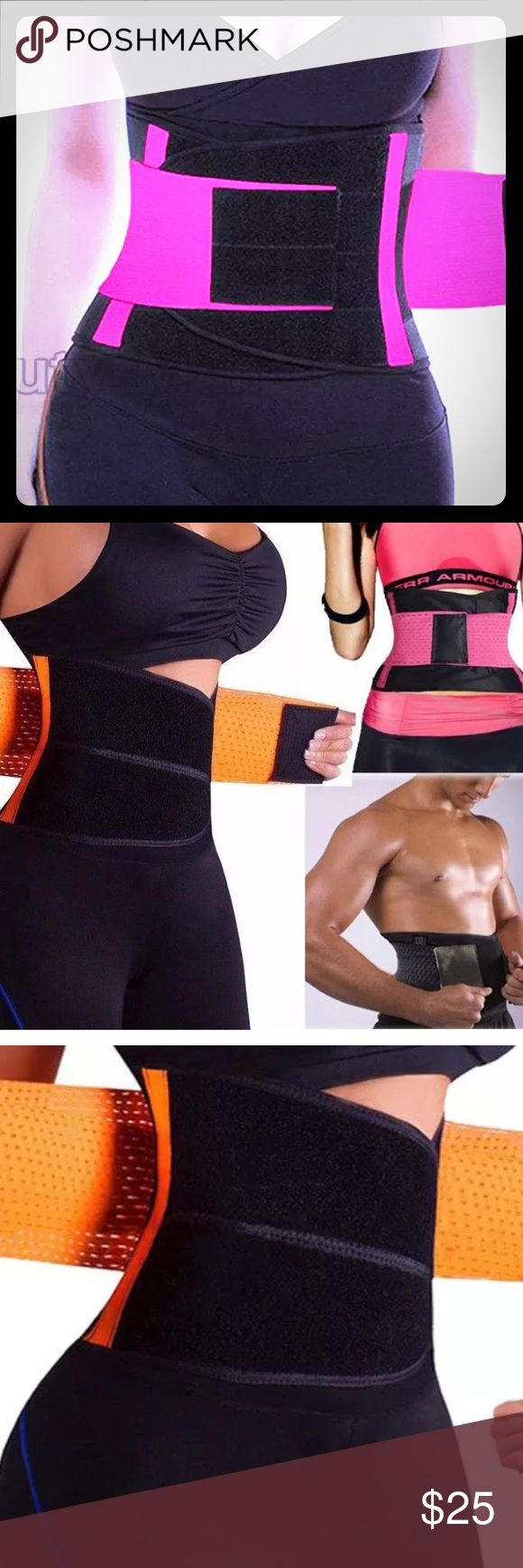 Waist training belt Size S   Waist inch:23.6-27.5.     Cm:60-70.    Length Cm-82. Inch-32.3 Color pink.  Adjustable front and side fitting wraps Other