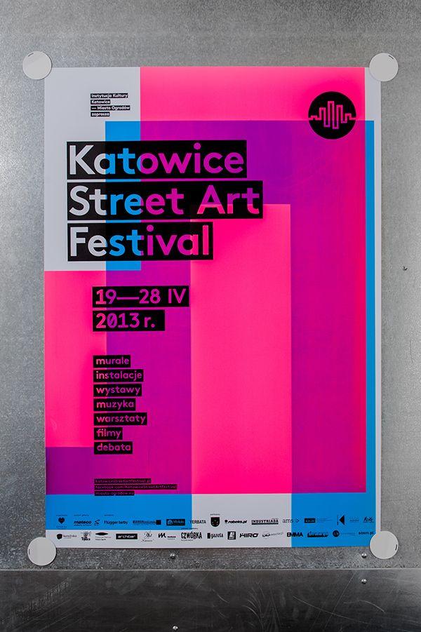 Katowice Street Art Festival – silkscreen poster series on Behance
