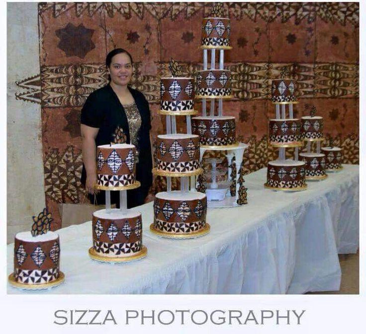Tongan themed cakes ngatu designed cakes by Ana Tupouata  Island Cakes  Island cake Tongan