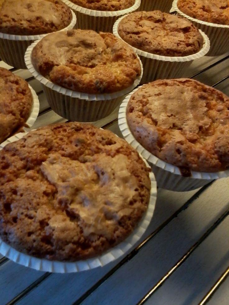 Den gyldne grydeske: Mormors makron muffins med chokolade