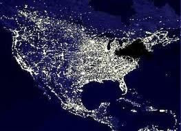 The 2003 Blackout as seen from space http://grammomsblog.wordpress.com/2013/08/14/the-2003-blackout/