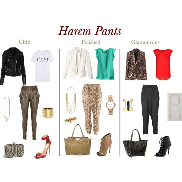 How to wear harem pants by garnetsandsapphires, via Polyvore