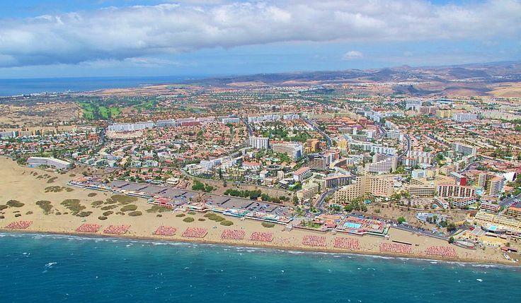 Playa del Inglés on Gran Canaria.