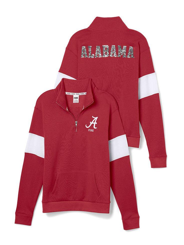 University of Alabama Bling Half-Zip Pullover - PINK - Victoria's Secret