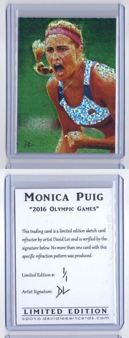 Olympics Cards 2956: Monica Puig Olympic Gold Medal Sketch Card *Artist Signed Refractor* Rare 1 1 -> BUY IT NOW ONLY: $30 on eBay!