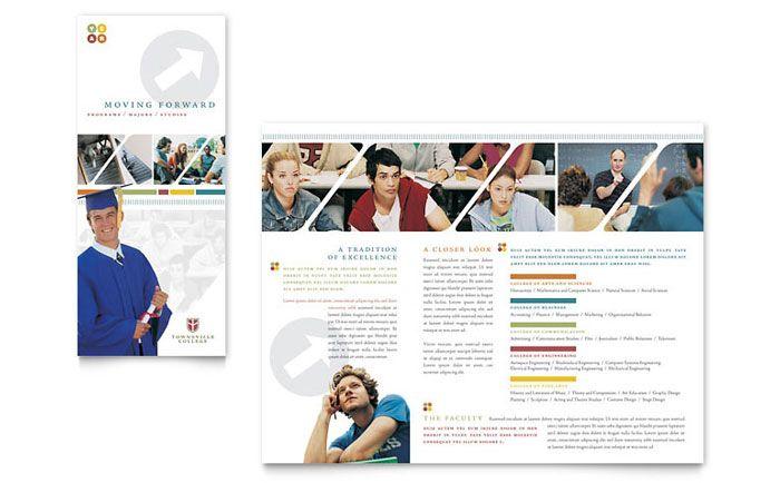 College and university brochure design template by for College brochure templates