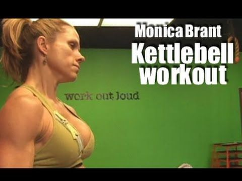 Get Lean Monica Brant Kettlebell Workout - YouTube  25 mins