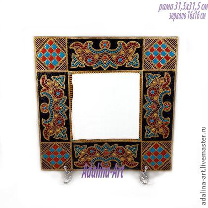 СОКРОВИЩЕ ТАИС зеркало. СОКРОВИЩЕ ТАИС зеркало  Дерево  Роспись Point-to-point  Зеркало в  широкой деревянной рамме  Можно разместить на подставке на туалетном столике.  а можно повесить на стену. Два варианта разместить на стене (обсуждается с…