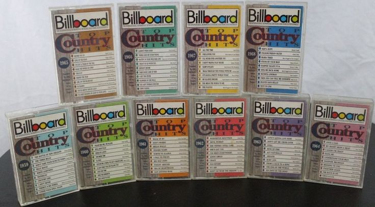 Billboard Top Country Hits 1959 - 1968 Cassette Tapes