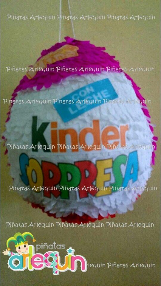 HUEVO KINDER SORPRESA Somos Piñatas Arlequin. Encuentranos en Facebook.