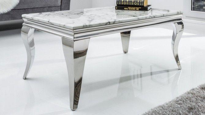 Table De Salon Baroque Design Rectangle Marbre Blanc Zita Gdegdesign Table De Salon Table Basse Marbre Table Basse Baroque