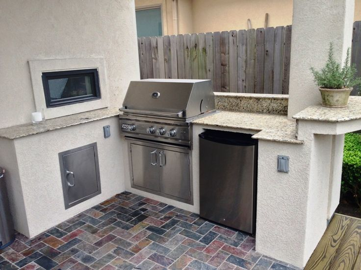 24 best Small outdoor kitchens images on Pinterest | Small outdoor ...