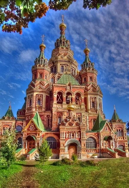 Peter and Paul Cathedral~ Peterhof~ Saint Petersburg, Russia