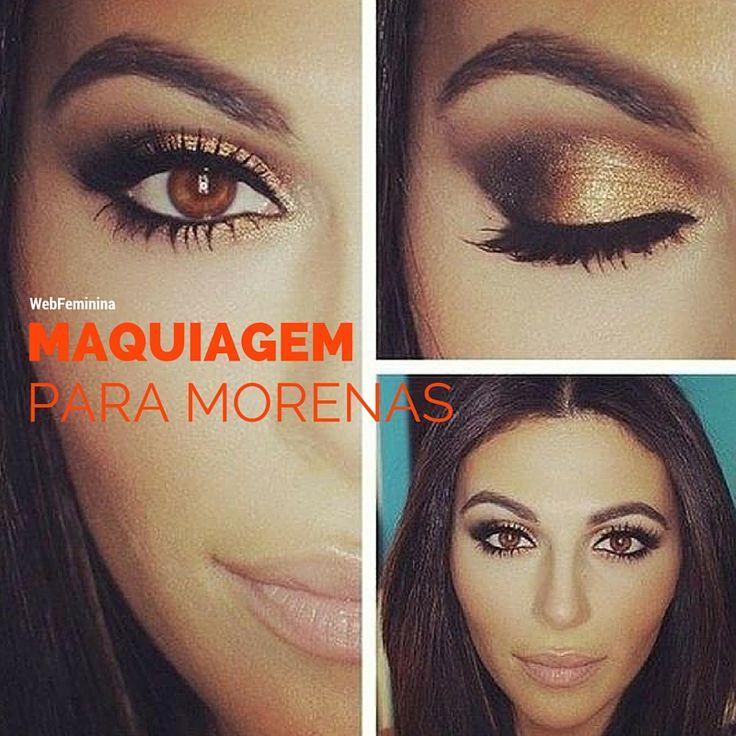 Maquiagem para Morenas - http://webfeminina.com/maquiagem-para-morenas/