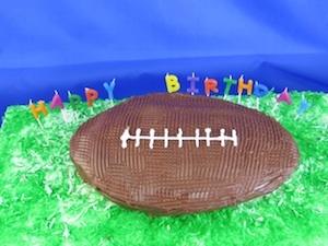 Fall Birthday Football Cake at Birthday.com