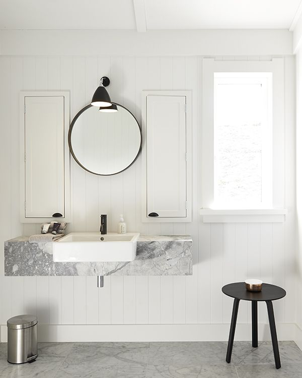 Built-in cupboards adjacent to sink mirror. Andy Coltart, Hawkes Bay.