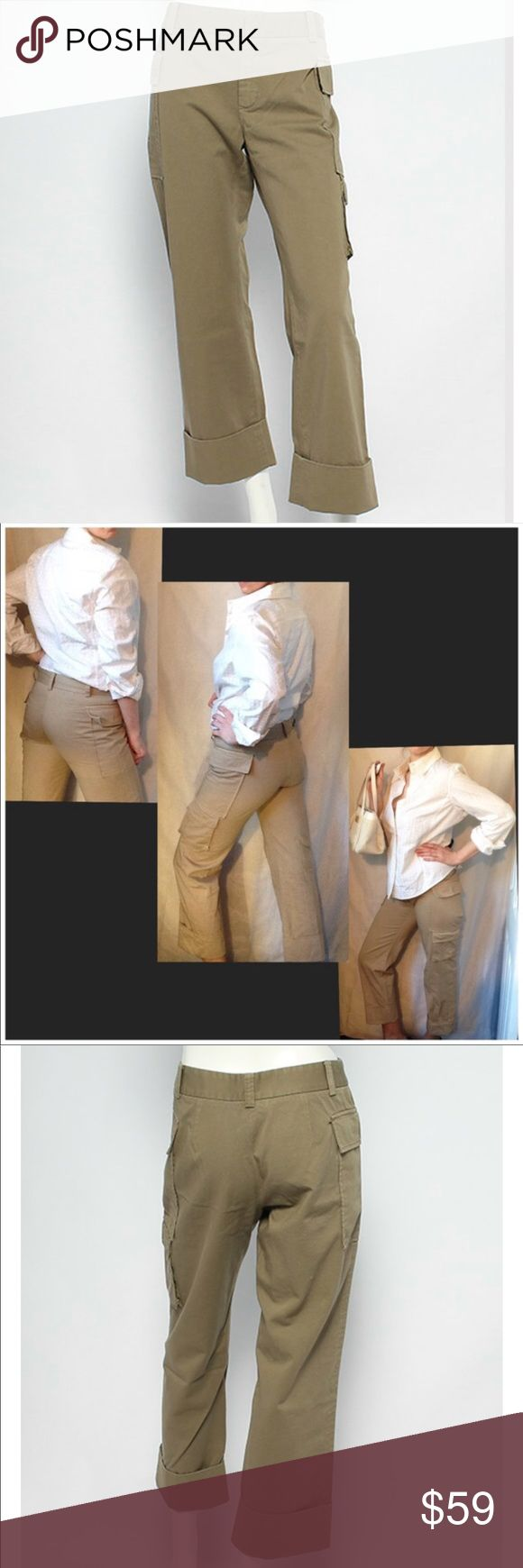 """Boy by Band of Outsiders Cargo Pant Khaki cargo pants from Boy by Band of Outsiders. Designer size 4. 17"""" waist, 30"""" inseam. Exposed outer cargo pockets on sides of hips. Never worn, no tags. Band Of Outsiders Pants"""
