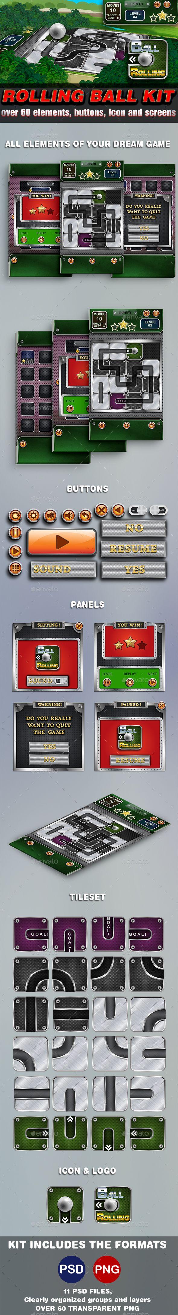 Metal Ball Rolling Game Kit - Game Kits #Game Assets