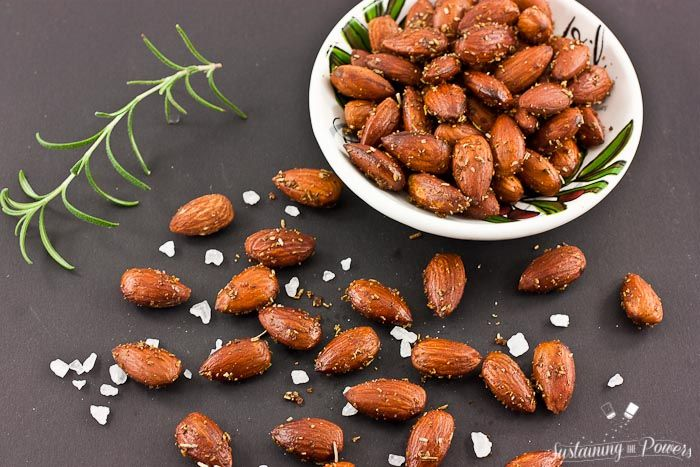 Rosemary Sea Salt Roasted Almonds are the perfect snack for my afternoon pick me up!