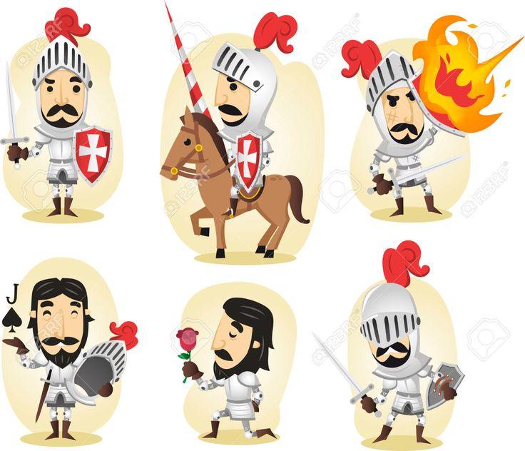 Middeleeuwse Ridder Cartoon Illustraties Royalty Vrije Cliparts, Vectoren, En Stock Illustratie. Image 34030384.