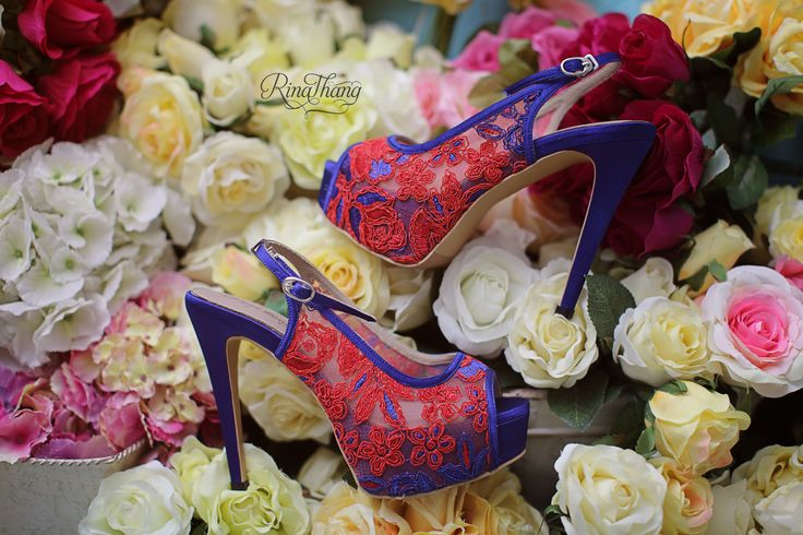 Lovely Red Wedding Shoes.. Shoes By Rinathang Shoes.  Handmade and Customs Shoes - Jakarta