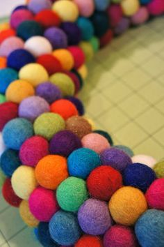 DIY Felt Ball Wreaths