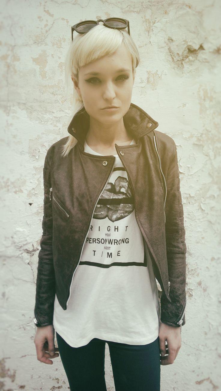 www.facebook.com/hihirifashion  #leather #jacket #bikerjacket #hihiri #girl #beautiful #vintage #summer #sun #love #fashion #streetstyle #outfit #womenswear #fashionable #designer #fashionshoot