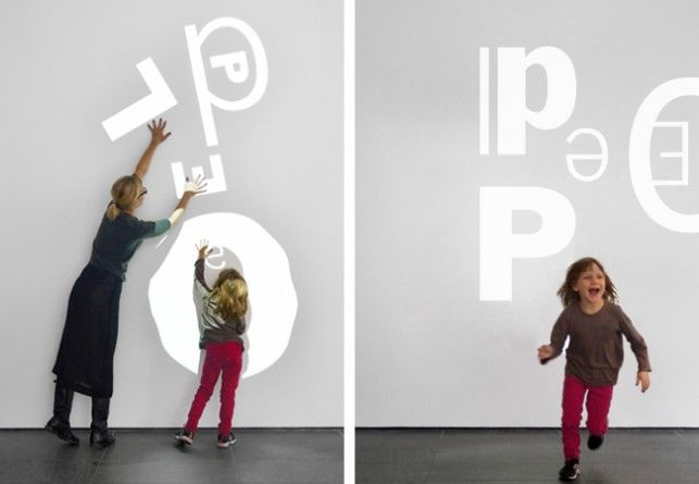 The MoMA Art Lab: People title wall.