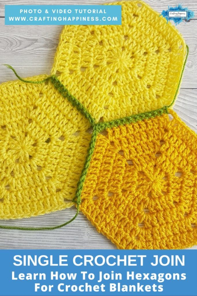 Single Crochet Join For Hexagon Blankets in 2020 (With ...