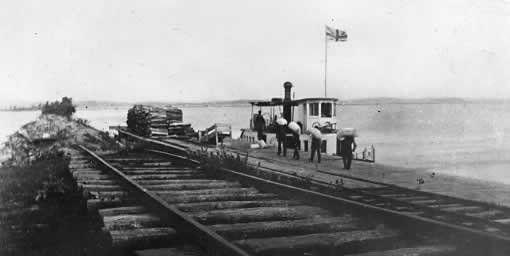Terminus of the Cobourg & Peterborough Railroad at Harwood,Ontario (Rice Lake)