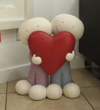 Just In - The amazing large I Love You This Much sculpture by Doug Hyde @hydecollectors #doughyde