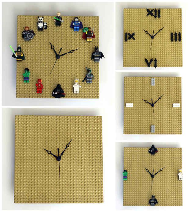 And this mix-and-match LEGO clock:
