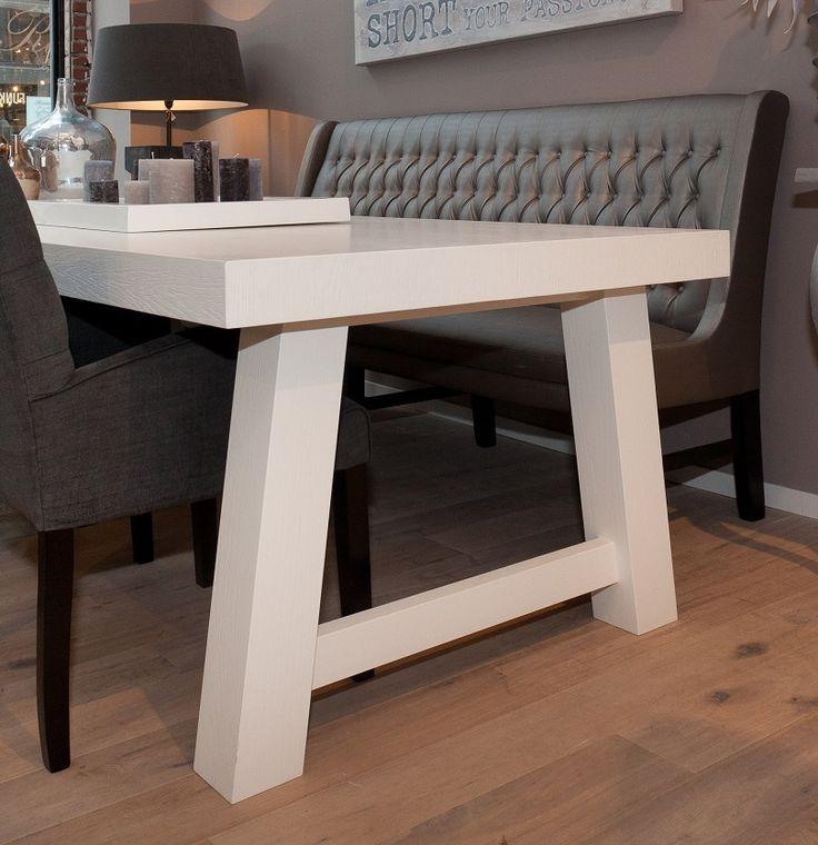 Flow wonen tafels eetkamertafel pinterest eetkamer eettafel en eetkamers - Eigentijdse keuken tafel ...
