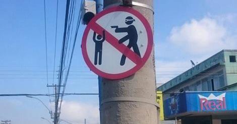 osCurve Brasil : Moradores de Niterói, RJ, instalam placa que 'proí...