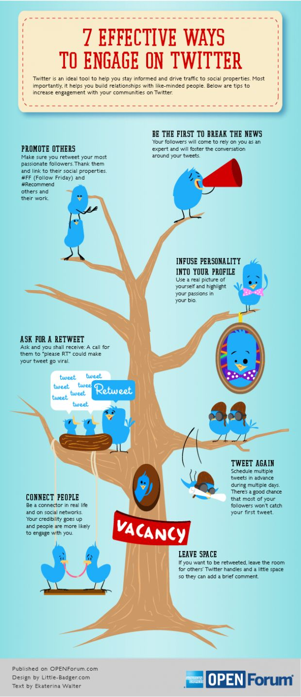 7 Effective Ways To Engage On Twitter Infographic #twitter