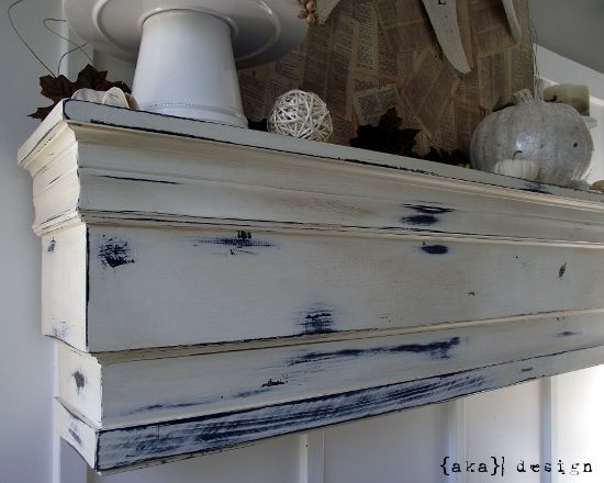 Pottery Barn Decorative Ledge/Mantel Knockoff DIY tutorial--step-by-step instructions.