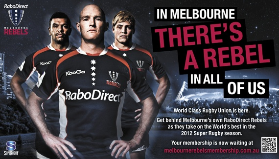Melbourne Rebels Rugby Union Club Membership Campaign
