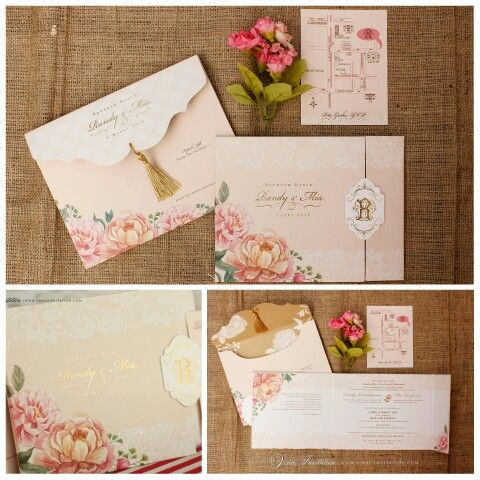 Vinas invitation. Wedding invitation. Custom wedding invitation. Flower theme. Flower theme invitation. Simple elegant invitation. Simple. Indonesian wedding. Any question pls visit us at website www.vinasinvitation.com. courtesy of Randy & Mia