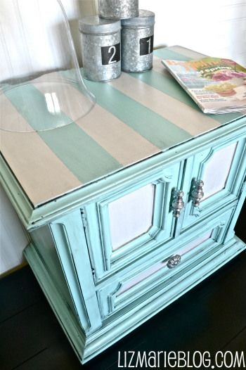 Paint Tip #1 & A Striped Nightstand -