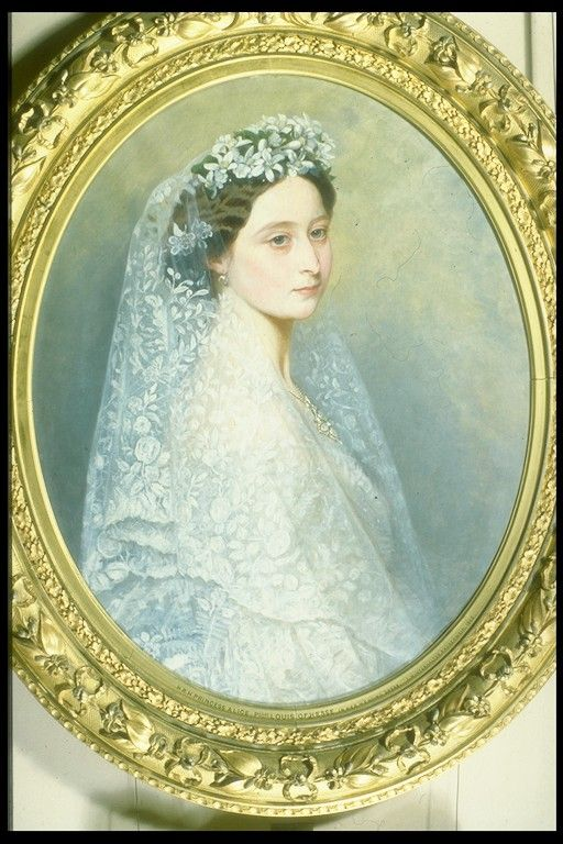 Princess Alice Maud Mary (1843-1878) UK by unknown artist. 1st wife of Grand Duke Louis IV (Frederick William Louis Charles) (1837–1892) Hesse, Germany. Alice was 3rd child of Queen Victoria (Alexandrina Victoria) (1819-1901) UK & Prince Albert (Albert Francis Charles Augustus Emmanuel) (1819-1861) of Saxe-Coburg & Gotha, Germany.